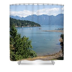 Snug Cove  Shower Curtain by Carol Ailles