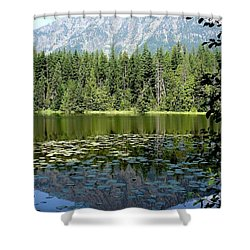 Shower Curtain featuring the photograph Snyder Lake Reflection by Kerri Mortenson