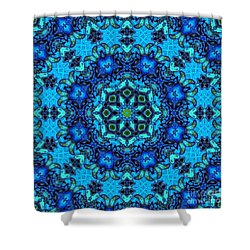 So Blue - 33 - Mandala Shower Curtain by Aimelle