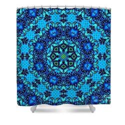 So Blue - 33 - Mandala Shower Curtain