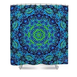 So Blue - 43 - Mandala Shower Curtain