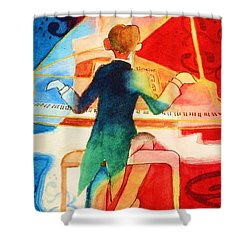 So Grand Shower Curtain by Marilyn Jacobson