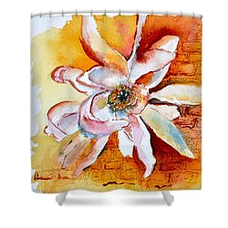 So The Wind Won't Blow It All Away Shower Curtain by Beverley Harper Tinsley