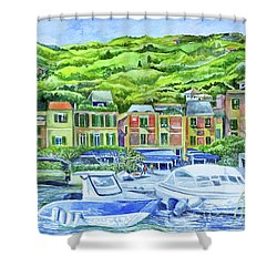 So This Is Portofino Shower Curtain