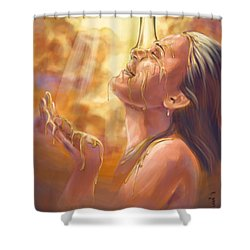 Soaking In Glory Shower Curtain by Tamer and Cindy Elsharouni