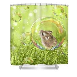 Soap Bubble Shower Curtain