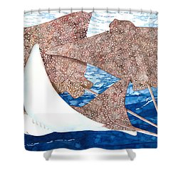 Soaring Eagle Rays Shower Curtain