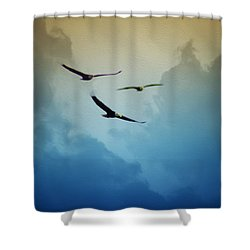 Soaring Eagles Shower Curtain by Bill Cannon
