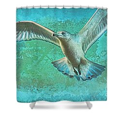 Soaring On Lifes Air Drafts Shower Curtain by Deborah Benoit