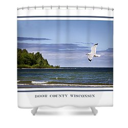 Soaring Over Door County Shower Curtain