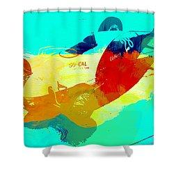 Socal Shower Curtain by Naxart Studio