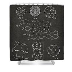 Shower Curtain featuring the digital art Soccer Ball Construction Artwork - Gray by Nikki Marie Smith