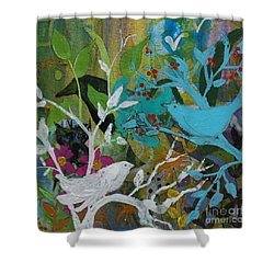 Social Network Shower Curtain by Robin Maria Pedrero