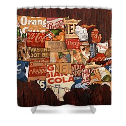 Soda Pop America Shower Curtain