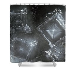 Sodium Hydroxide Crystals Shower Curtain by Charles D Winters