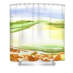 Sodom Found Shower Curtain by Kip DeVore