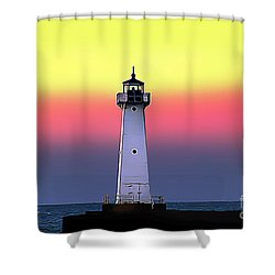 Sodus Outer Lighthouse Shower Curtain