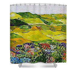 Soft And Lush Shower Curtain by Allan P Friedlander