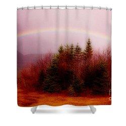 Soft Cape Breton Rainbow Shower Curtain by John Malone