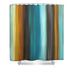 Soft Chocolate By Madart Shower Curtain by Megan Duncanson