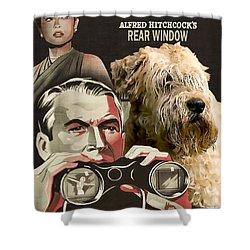 Soft-coated Wheaten Terrier  - Wheaten Terrier Art Canvas Print - Rear Window Movie Poster Shower Curtain