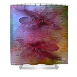 Soft Colored Ripples And Ribbons Abstract Shower Curtain