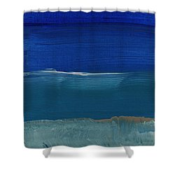 Soft Crashing Waves- Abstract Landscape Shower Curtain by Linda Woods