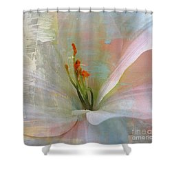 Soft Painted Lily Shower Curtain