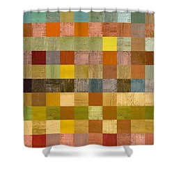 Soft Palette Rustic Wood Series Ll Shower Curtain