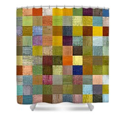 Soft Palette Rustic Wood Series With Stripes Lll Shower Curtain