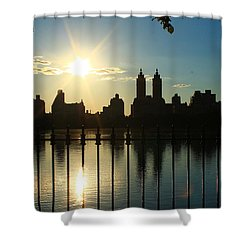 Soft Reflections Shower Curtain by Catie Canetti