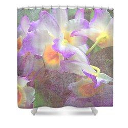 Soft Subtle Orchids Shower Curtain by Gena Weiser