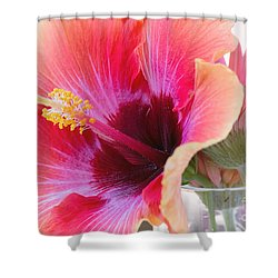 Soft Touch Hibiscus Shower Curtain by Sally Simon
