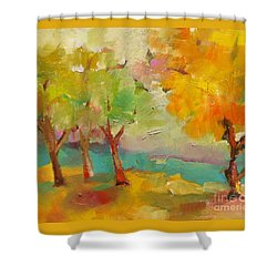 Soft Trees Shower Curtain