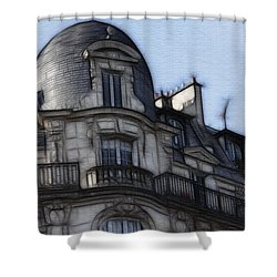 Softer Side Of Paris Architecture Shower Curtain