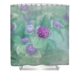 Softly Clover Shower Curtain by Kim Hojnacki