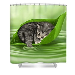 Softly Lulled Shower Curtain