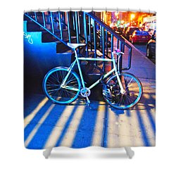 Shower Curtain featuring the photograph Soho Bicycle  by Joan Reese