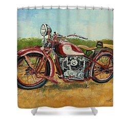 Sokol 1000 - Polish Motorcycle Shower Curtain