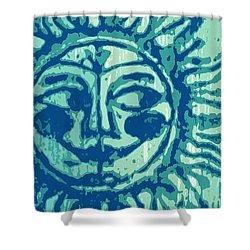 Sol -aqua Shower Curtain