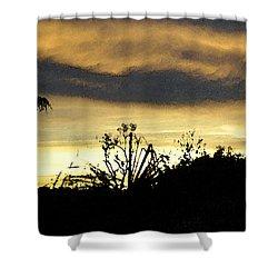 Shower Curtain featuring the digital art Solana Beach Sunset 3 by Kirt Tisdale