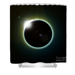 Solar Eclipse Shower Curtain by Antony McAulay