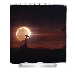 Solar Eclipse Over Africa Shower Curtain by Tobias Roetsch