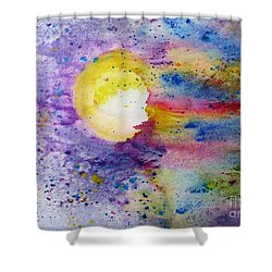 Solar Flair Shower Curtain by Desiree Paquette