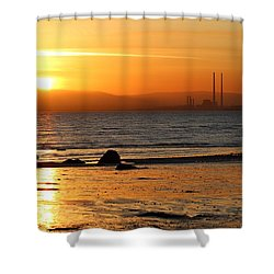 Solar Gold Shower Curtain