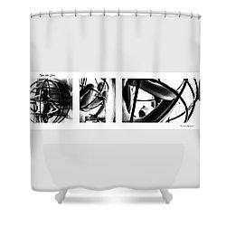 Shower Curtain featuring the photograph Solar Jail Triptych by Stwayne Keubrick