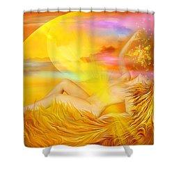 Solar Plexus Goddess Shower Curtain by Carol Cavalaris