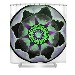 Shower Curtain featuring the painting Solar Soul Purple Sky by Patricia Arroyo