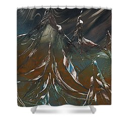 Shower Curtain featuring the painting Solar Winds by Jason Girard