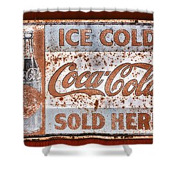 Sold Here Shower Curtain by Karol Livote